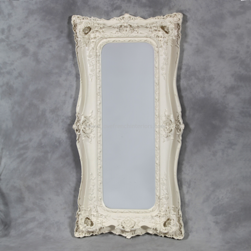 Classic Styled White French Slim Mirror